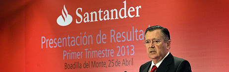 1t2013 santander 1T2013: Banco Santander gana 1.205 millones, un 26% menos que en el primer trimestre de 2012