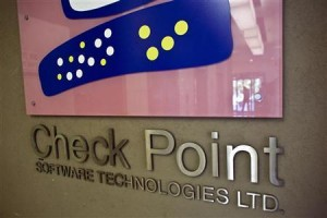 The Check Point Software Technologies Ltd. logo is seen at the company's offices in Tel Aviv