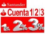 Cuenta 1,2,3 del Banco Santander SUBIDA espectacular de comisiones